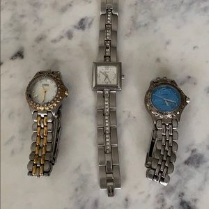 Set of 3 watches - Nine West, Fossil & DKNY